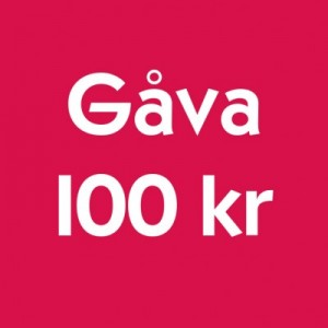 Gåva 100 kr