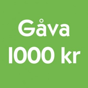 Gåva 1000 kr