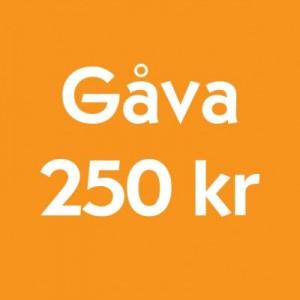 Gåva 250 kr