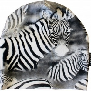 Mössa svart/vita zebror
