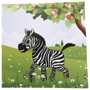 Vykort_Zebra