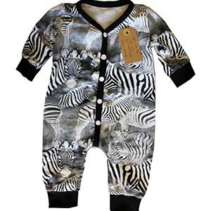 Bodysuit svartvita zebror