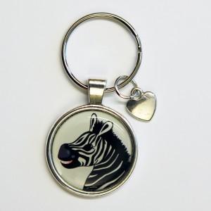 Nyckelring_zebra_huvud